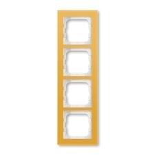 Rámeček ABB Busch-axcent čtyřnásobný sklo žluté