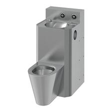WC s umyvadlem rovný Sanela SLWN 38, WC na zemi