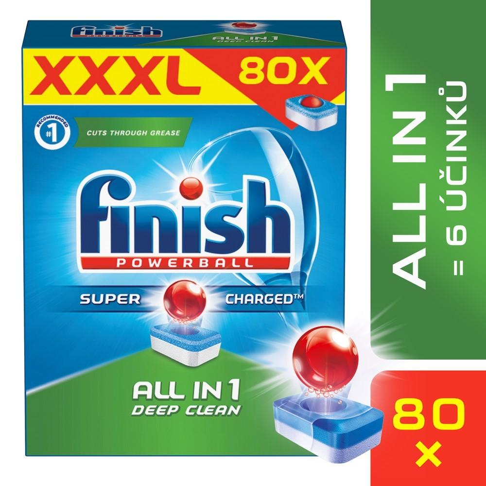 Tablety do myčky FINISH All-in-1 80 ks, cena za ks