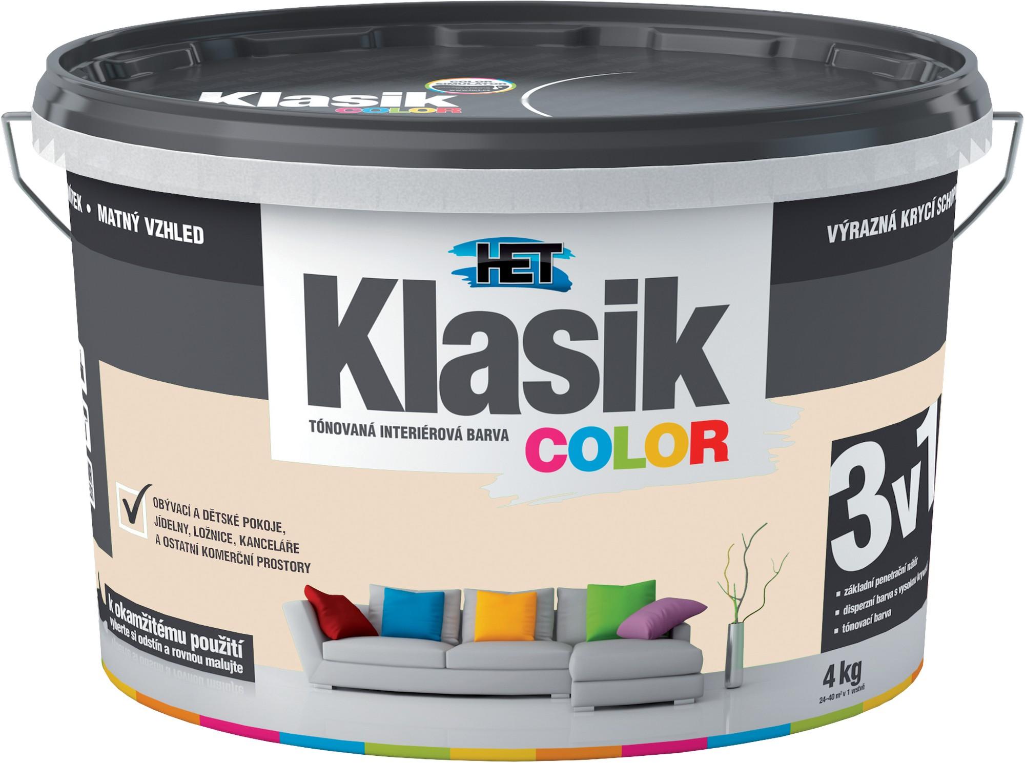 Malba interiérová HET Klasik Color béžový kávový, 4 kg