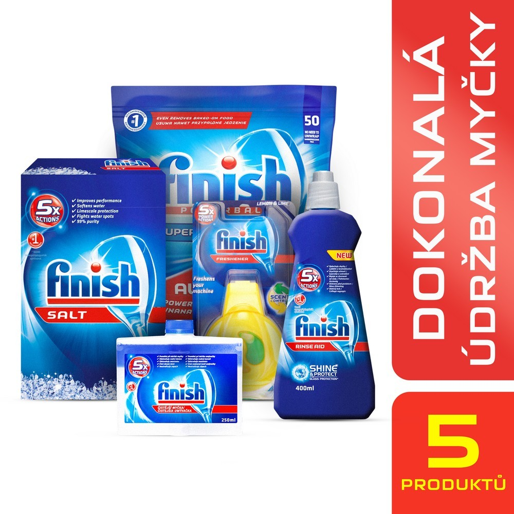 Tablety do myčky Finish Starter pack, cena za ks