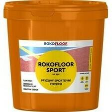 Povrch sportovní Rokofloor Sport žlutý, 12 kg/bal.
