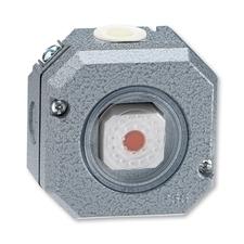 Spínač dvojpólový s červeným průzorem, se signalizační doutnavkou Garant, šedá