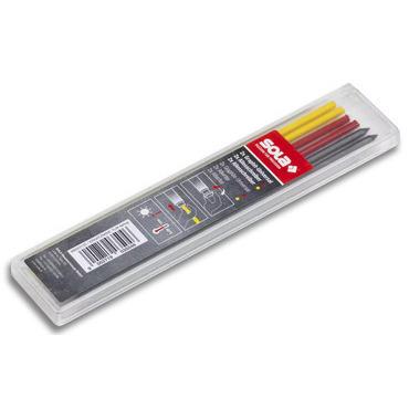 Tuha náhradní SOLA TLM EM F červená, žlutá, šedá 6 ks