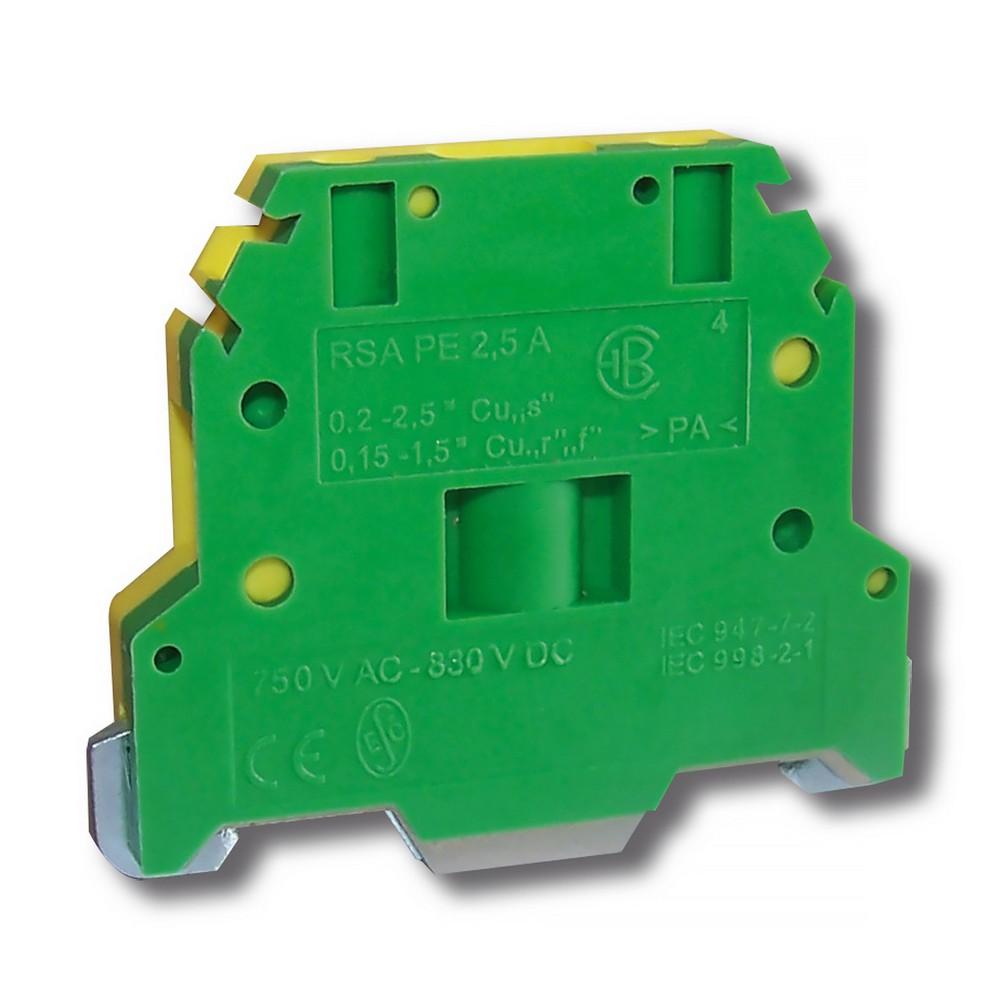 Svorka řadová RSA PE 2,5 A zelenožlutá, cena za ks
