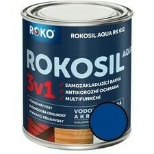 Barva samozákladující Rokosil Aqua 3v1 RK 612 stř. modrá, 0,6 l