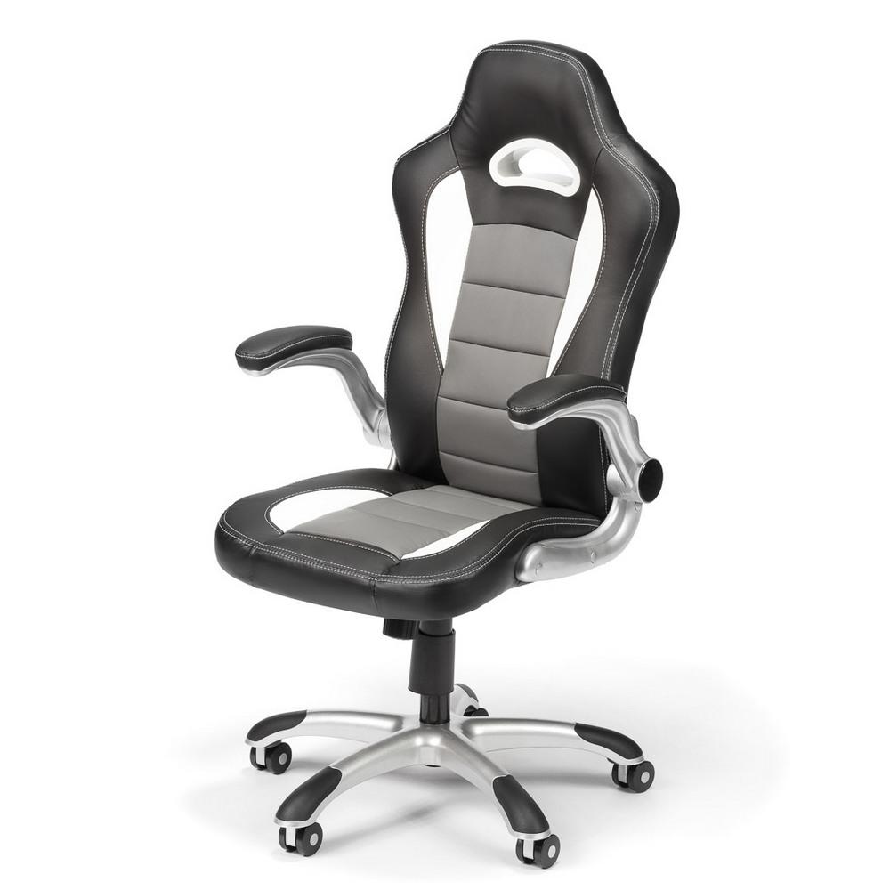 Kancelářská židle GAMING, černošedá, cena za ks