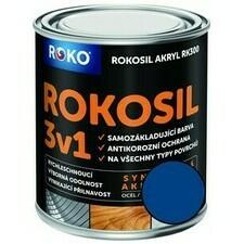 Barva samozákladující Rokosil akryl 3v1 RK 300 modrá 0,6 l