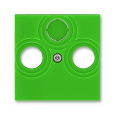 Kryt zásuvky anténní TV/R/SAT Levit zelená