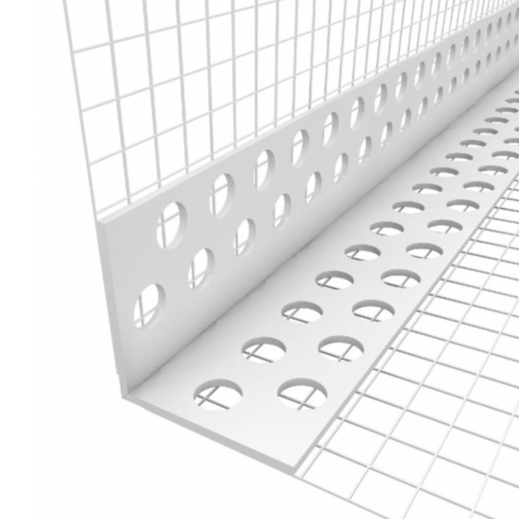 Rohový profil LKS s tkaninou, plastový, délka 2,5 m