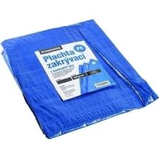 Plachta zakrývací DEK STANDARD 80 g/m2 modrá/stříbr. 6×10 m