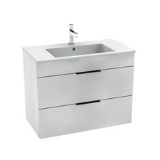 Skříňka s 2 zásuvkami a umyvadlem Jika CUBE 80 cm, bílá
