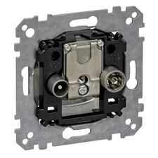 Přístroj anténní zásuvka koncová R/TV+SAT Schneider Merten