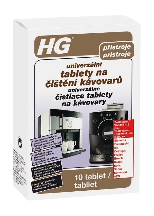 HG univerzální tablety na čištění kávovarů