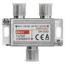 Slučovač satelitního a anténního signálu (TV/SAT) Emos