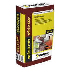 Weber.mix zdící malta pevnost v tlaku 10MPa 25kg/bal