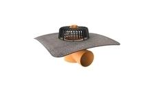Vodorovná střešní vpusť TOPWET s integrovaným bitumenovým límcem o průměru 75 mm