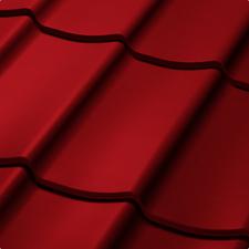 Velkoformátová profilovaná plechová střešní krytina SATJAM TREND SP25 RAL 3011 červená
