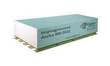 Deska sádrokartonová Rigips RBI 12,5×1250×2000 mm