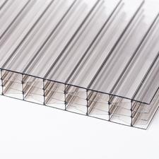 Polykarbonátová dutinková deska MULTICLEAR 10 STRONG 6W bronz s UV ochranou 1250×6000 mm