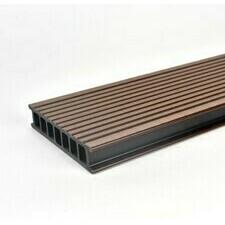 Prkno terasové dřevoplastové Twinson Terrace odstín lískový ořech 140x28×4000 mm