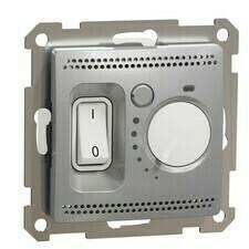 Termostat prostorový Schneider Sedna Design aluminium