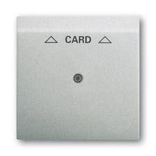 Kryt spínače kartového, s čirým průzorem, s potiskem Impuls saténová stříbrná