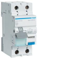 Chránič proudový s jištěním Hager ADA910D 6 kA 2pól 10 A