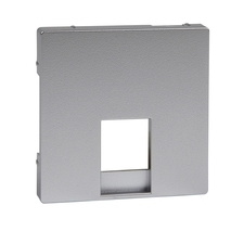 Kryt pro telefonní zásuvku RJ11/RJ12 Schneider Merten, aluminium