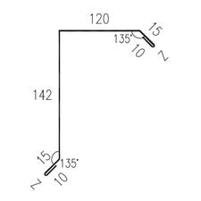Lemování okraje RS312S SP25 RAL9005 0,50mm 2bm