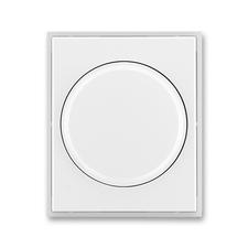Kryt stmívače s otočným ovladačem Time/Element bílá / ledová bílá