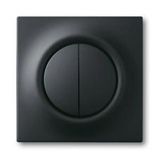 Kryt spínače s děleným tlačítkovým ovladačem Impuls mechová černá