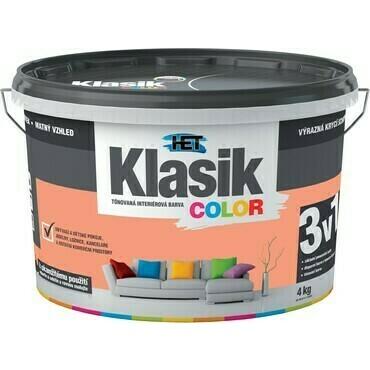 Malba interiérová HET Klasik Color lososový, 4 kg