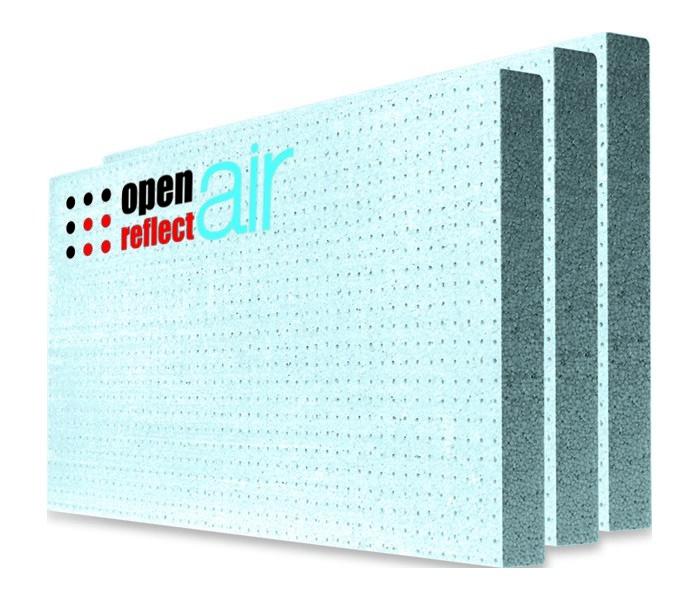 Fasádní polystyren (šedý) BAUMIT OPEN REFLECTAIR 120 mm (1000x500 mm)