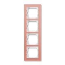 Rámeček ABB Busch-axcent čtyřnásobný sklo růžové