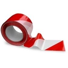 Páska výstražná Color Expert červeno-bílá 75 mm/200 m