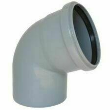 Koleno s hrdlem HTB pro odpadní potrubí, DN 100, úhel 67°