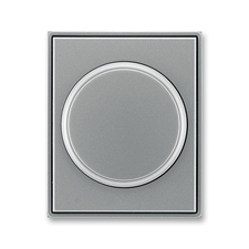 Kryt stmívače s otočným ovladačem Time ocelová