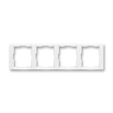 Rámeček čtyřnásobný vodorovný Time bílá