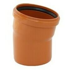 KGB koleno pro kanalizační potrubí DN 125, úhel 15° , barva oranžová