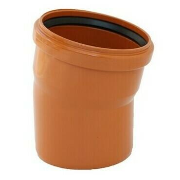 KGB koleno pro kanalizační potrubí DN 250, úhel 15° , barva oranžová