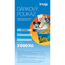 Dárkový poukaz INVIA v hodnotě 2 000 Kč