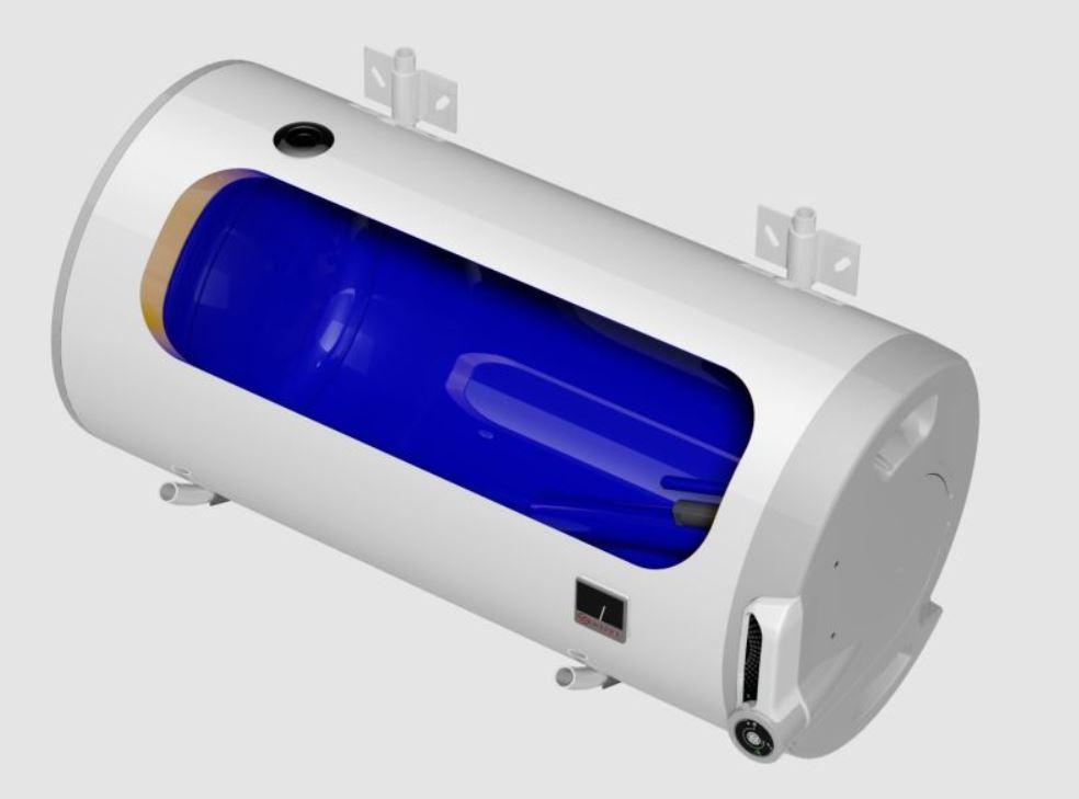 Kombinovaný ohřívač vody Dražice OKCV 125, vodorovný levý