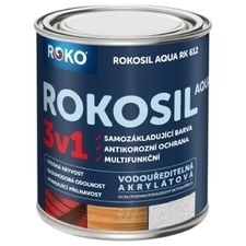 Barva samozákladující Rokosil Aqua 3v1 RK 612 čer. hnědá, 0,6 l