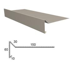 Závětrná lišta z poplastovaného plechu Viplanyl r.š. 250 mm