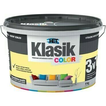 Malba interiérová HET Klasik Color žlutý zázvorový, 4 kg