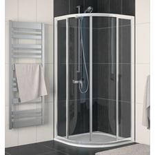 Kout sprchový čtvrtkruhový SanSwiss ECOR55 900 mm, Aluchrom, čiré