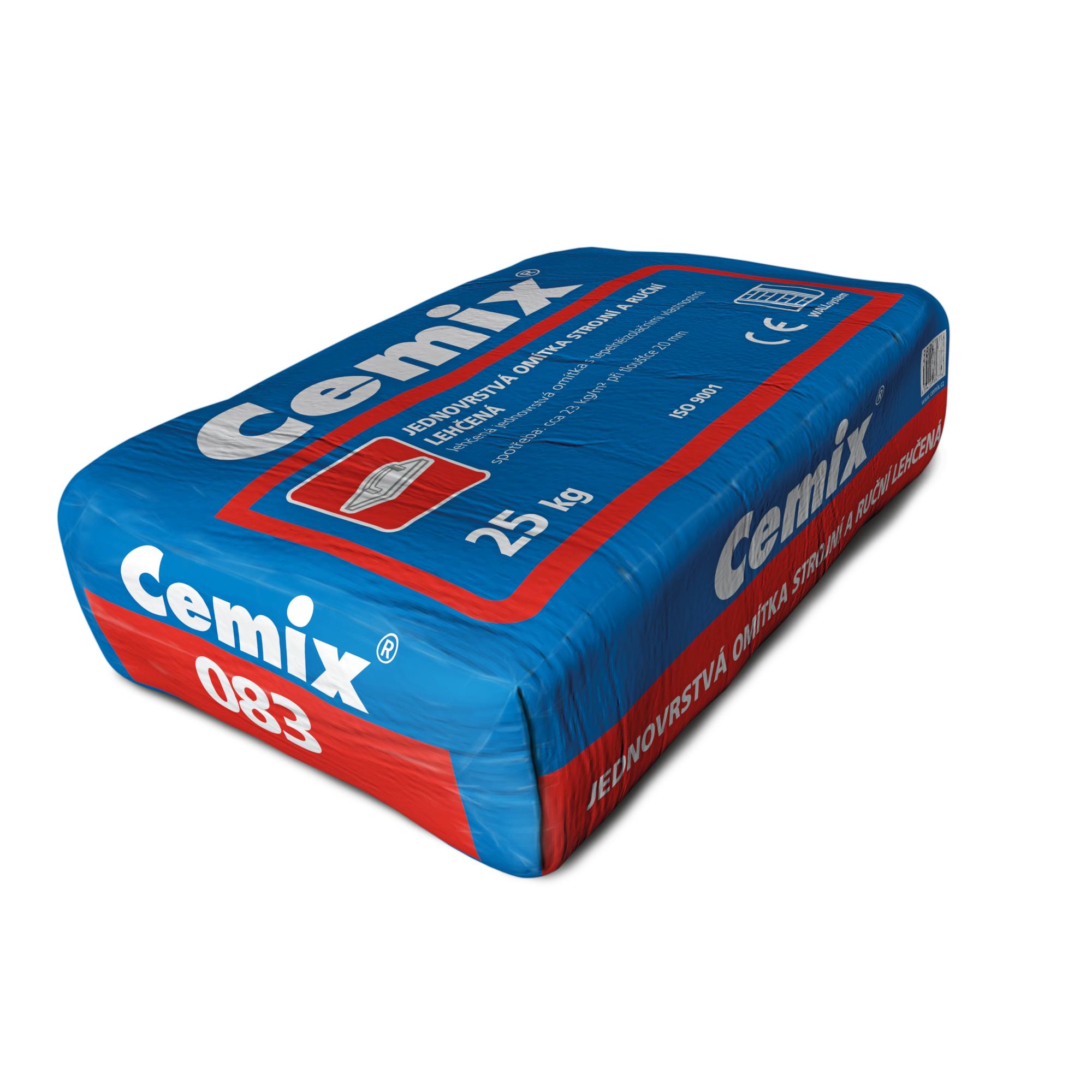 Omítka jednovrstvá lehčená Cemix 083 strojní a ruční 25 kg