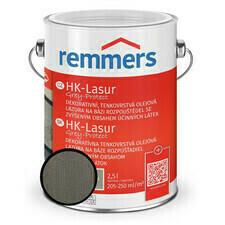 Lazura ochranná Remmers HK Lasur Grey protect grafitová, 2,5 l