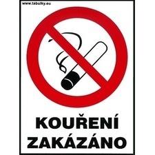 Samolepka Kouření zakázáno 120×160 mm